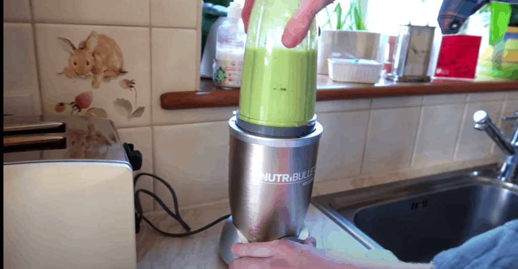 step-by-step guide to making celery juice by Nutribullet