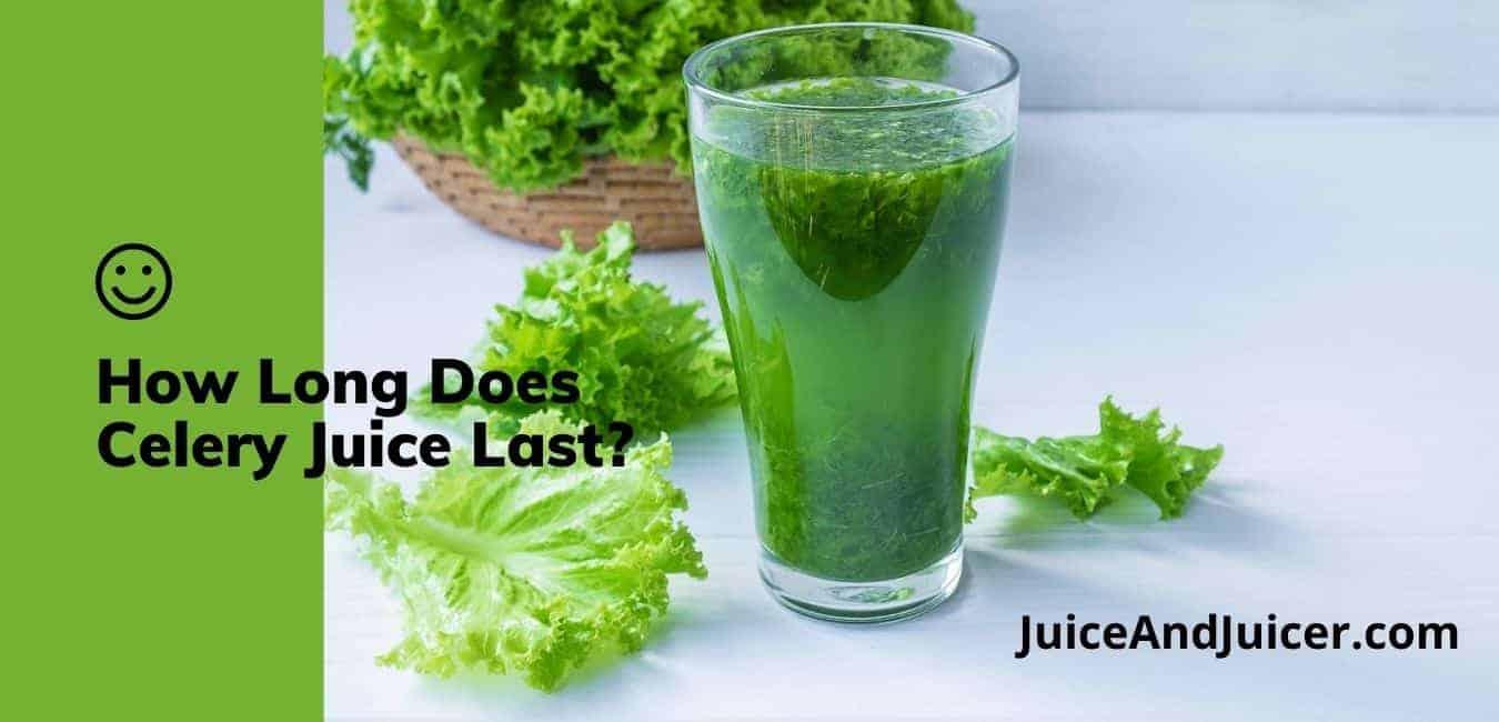 How Long Does Celery Juice Last In The Fridge