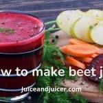 how to make beet juice